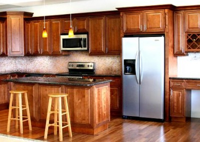 Gallery unity cabinet granite for Assembled kitchen cabinets cheap